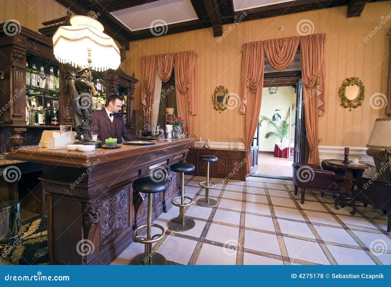 Vintage bar stock photo. Image of liquor, classic, hotel - 4275178