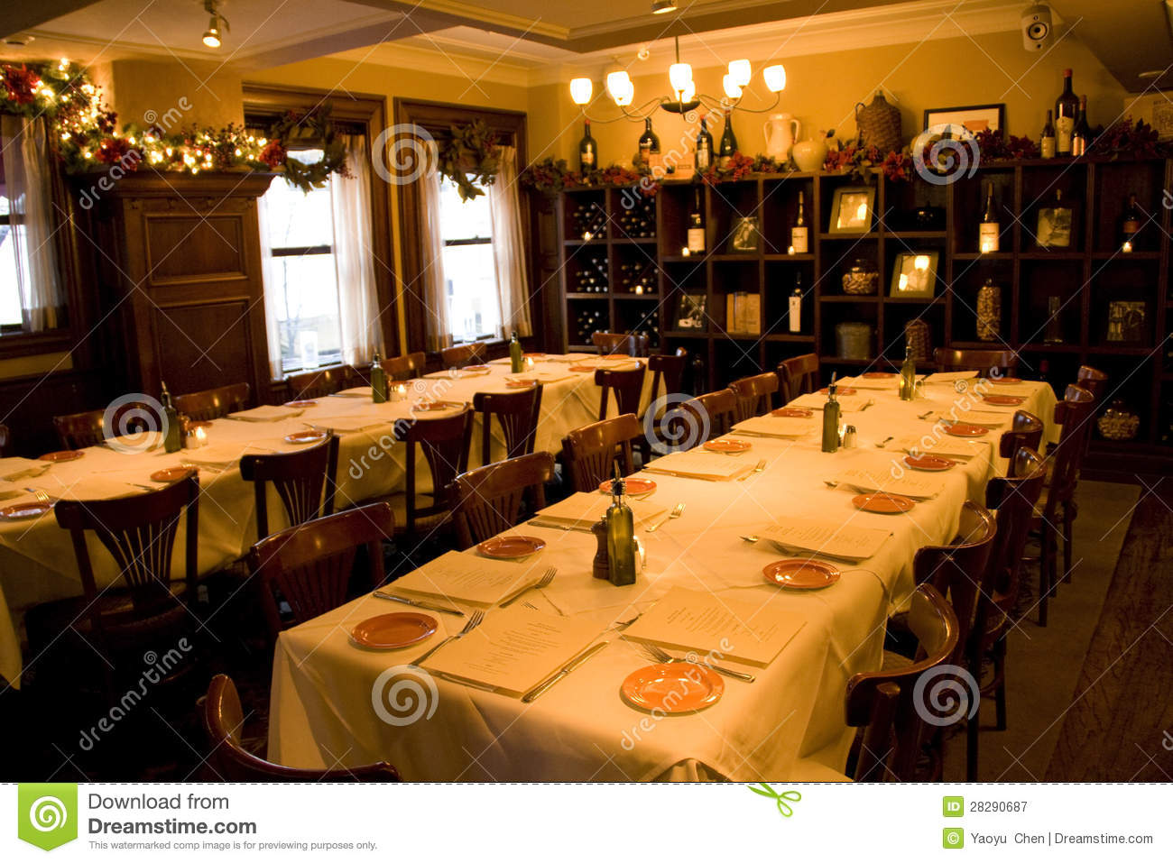 Royalty Free Stock Photo Download Vintage Bar Restaurant Private Party Room