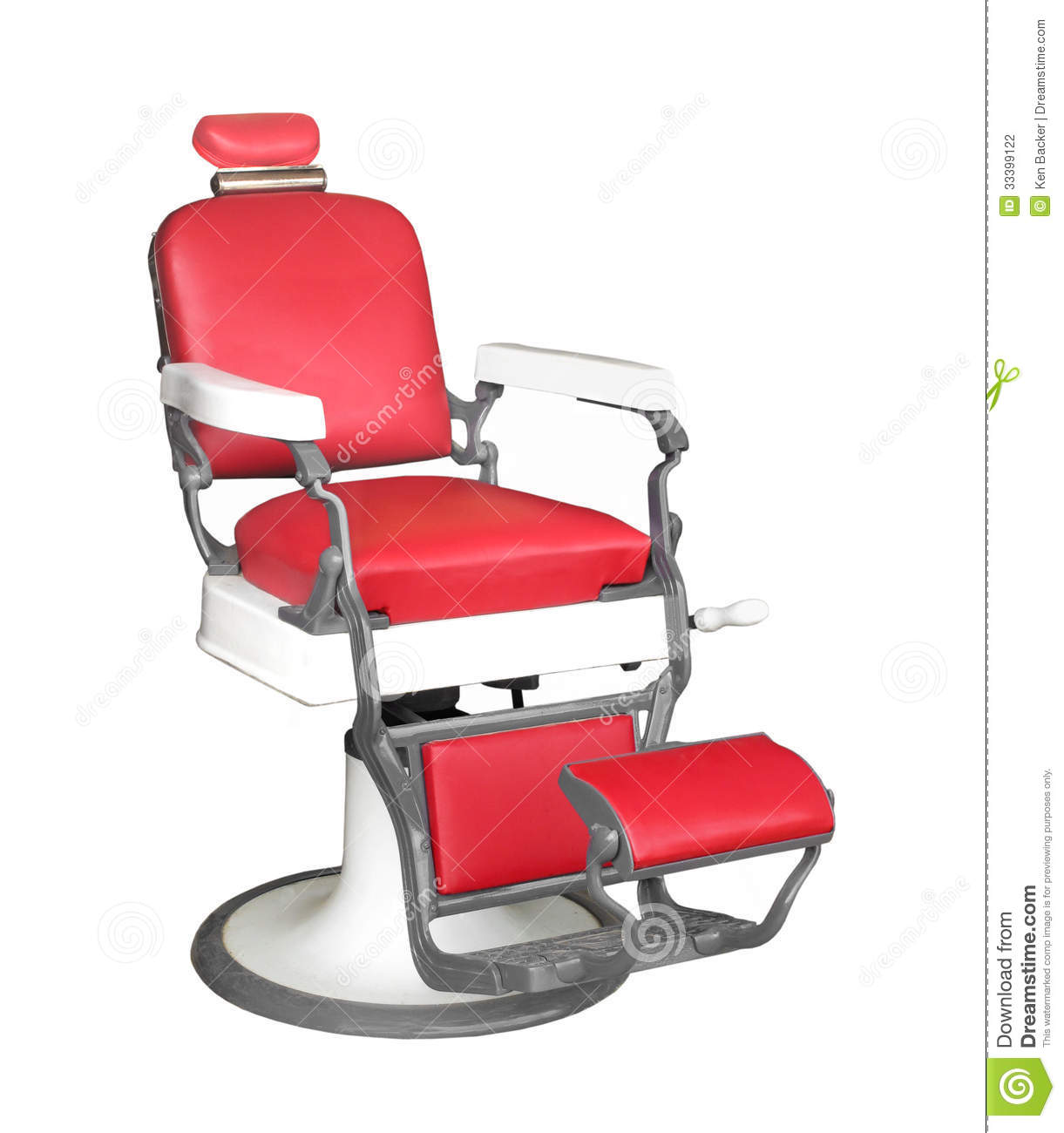 Vintage barber chair isolated stock photography image 33399122
