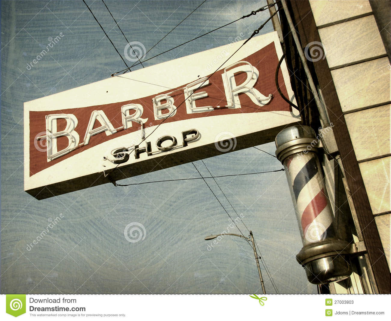 Antique barber shop sign - Vintage Barber Shop Sign