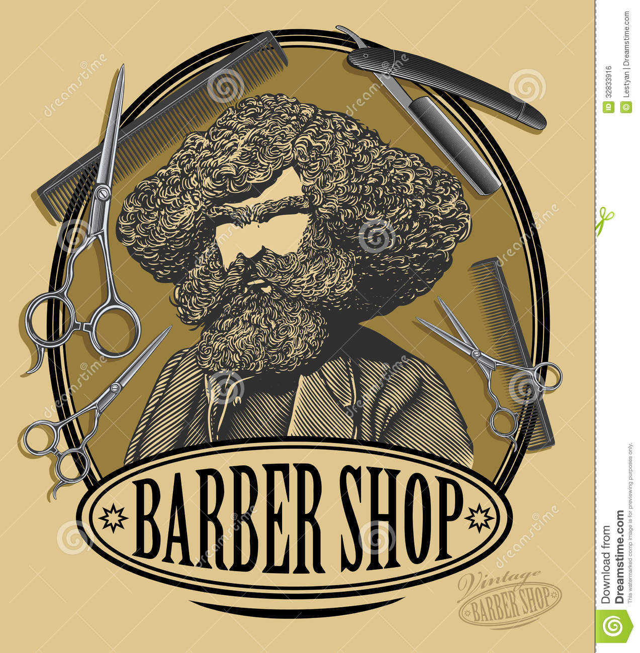 Antique barber shop sign - Vintage Barber Shop Sign Board