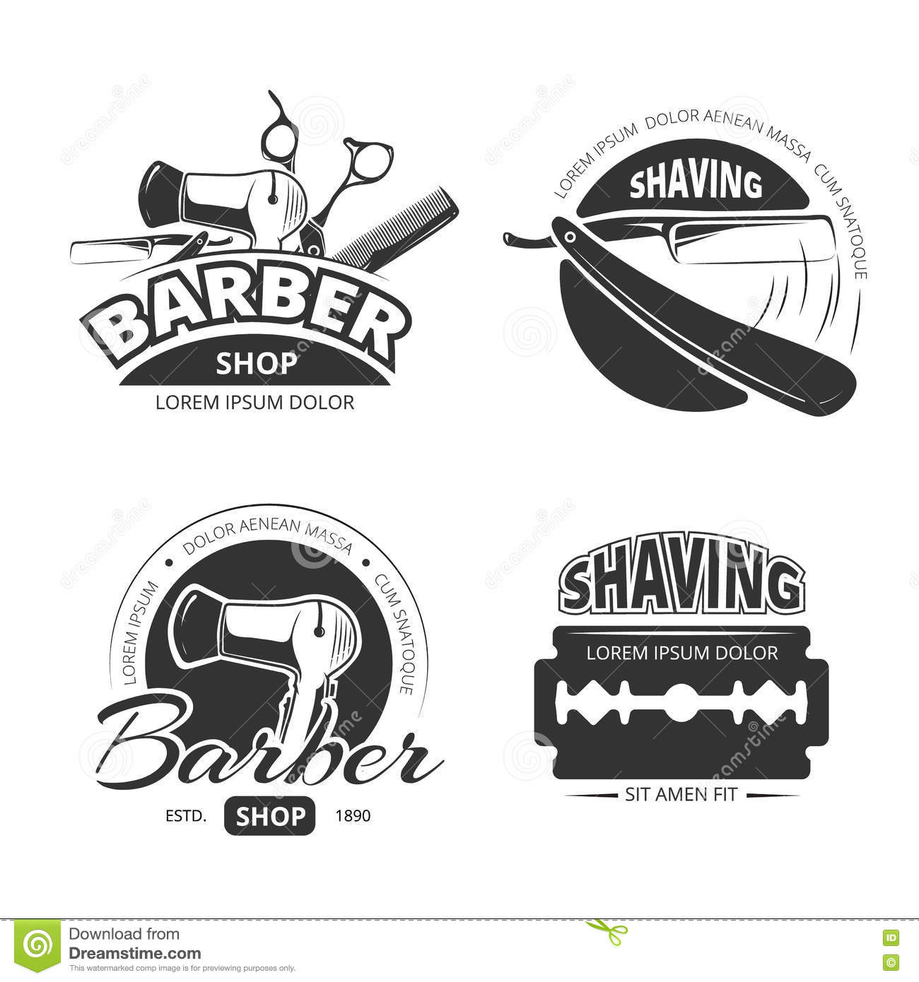Hair Shave Design With Badge