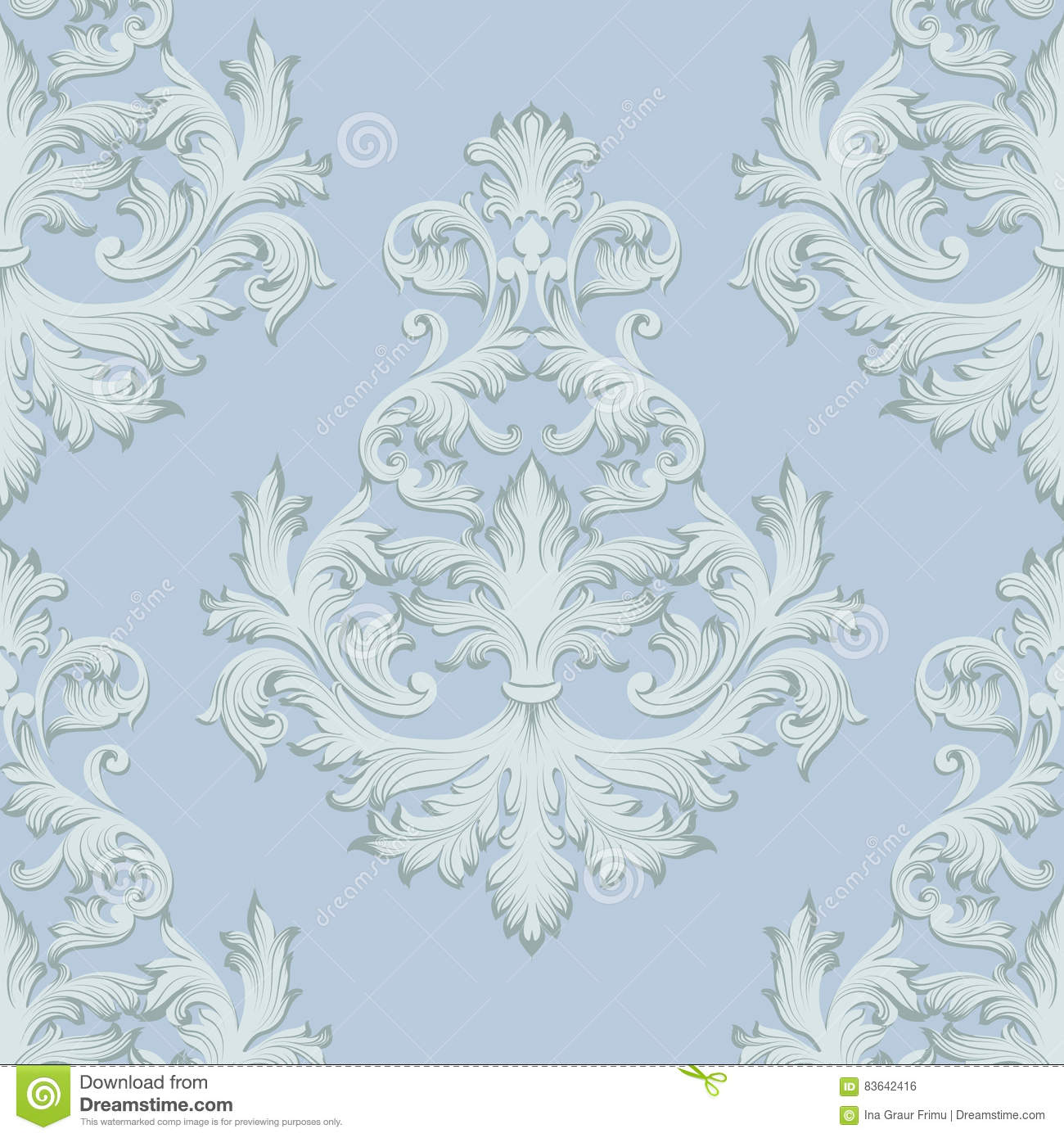 Vintage baroque damask floral retro pattern acanthus for Acanthus decoration