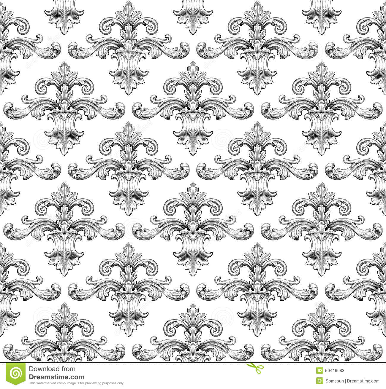 leaf scroll wallpaper vintage patterns - photo #28