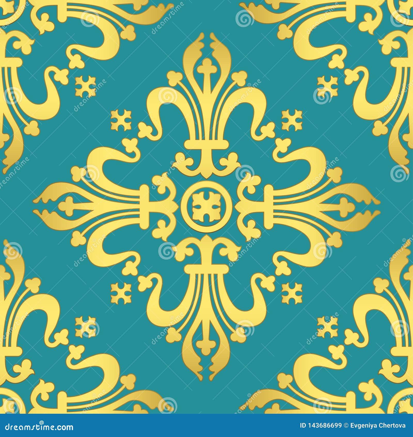 Vintage Baroque Ornament, Damask Floral Luxury Seamless