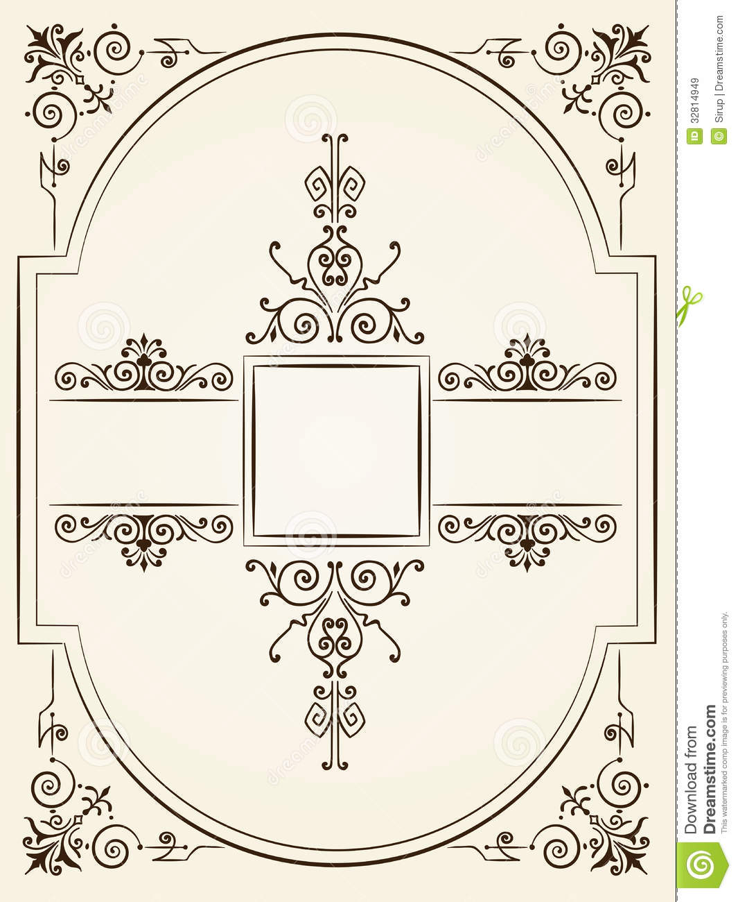 Vintage baroque style ornament design royalty free stock for Baroque architecture elements