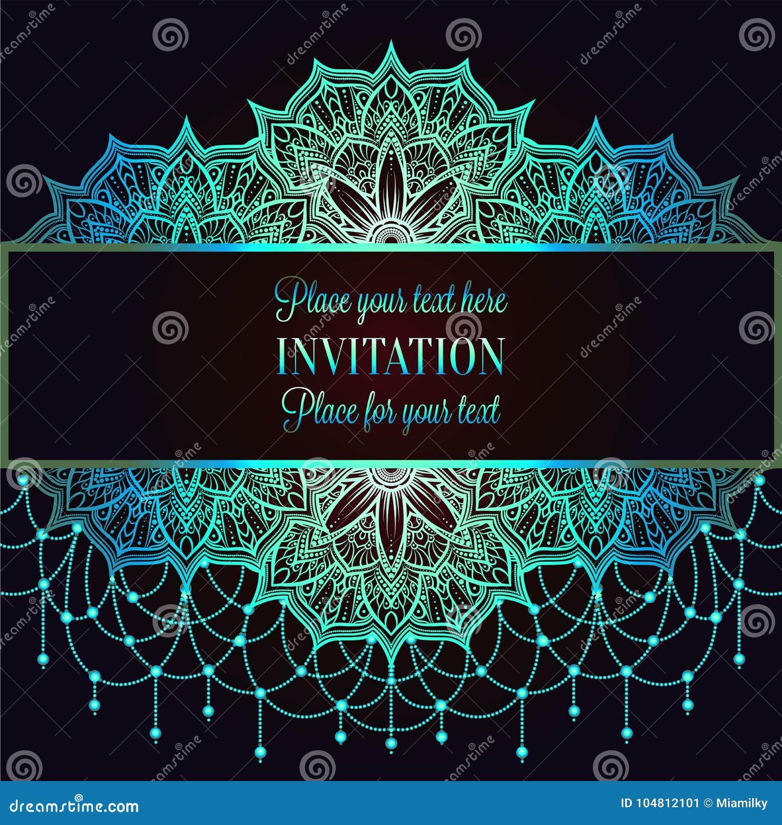 Vintage Baroque Wedding Invitation Template Stock Vector