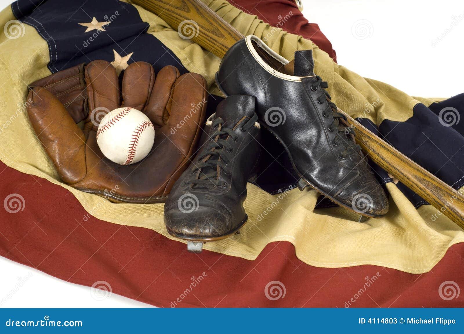 Vintage Baseball Gear Stock Photos Image 4114803