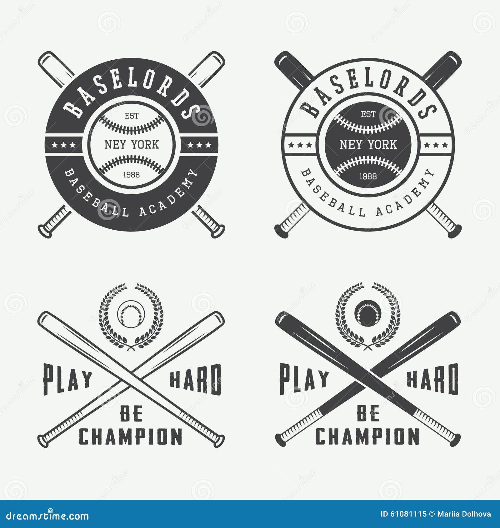 Vintage Baseball Logos 80