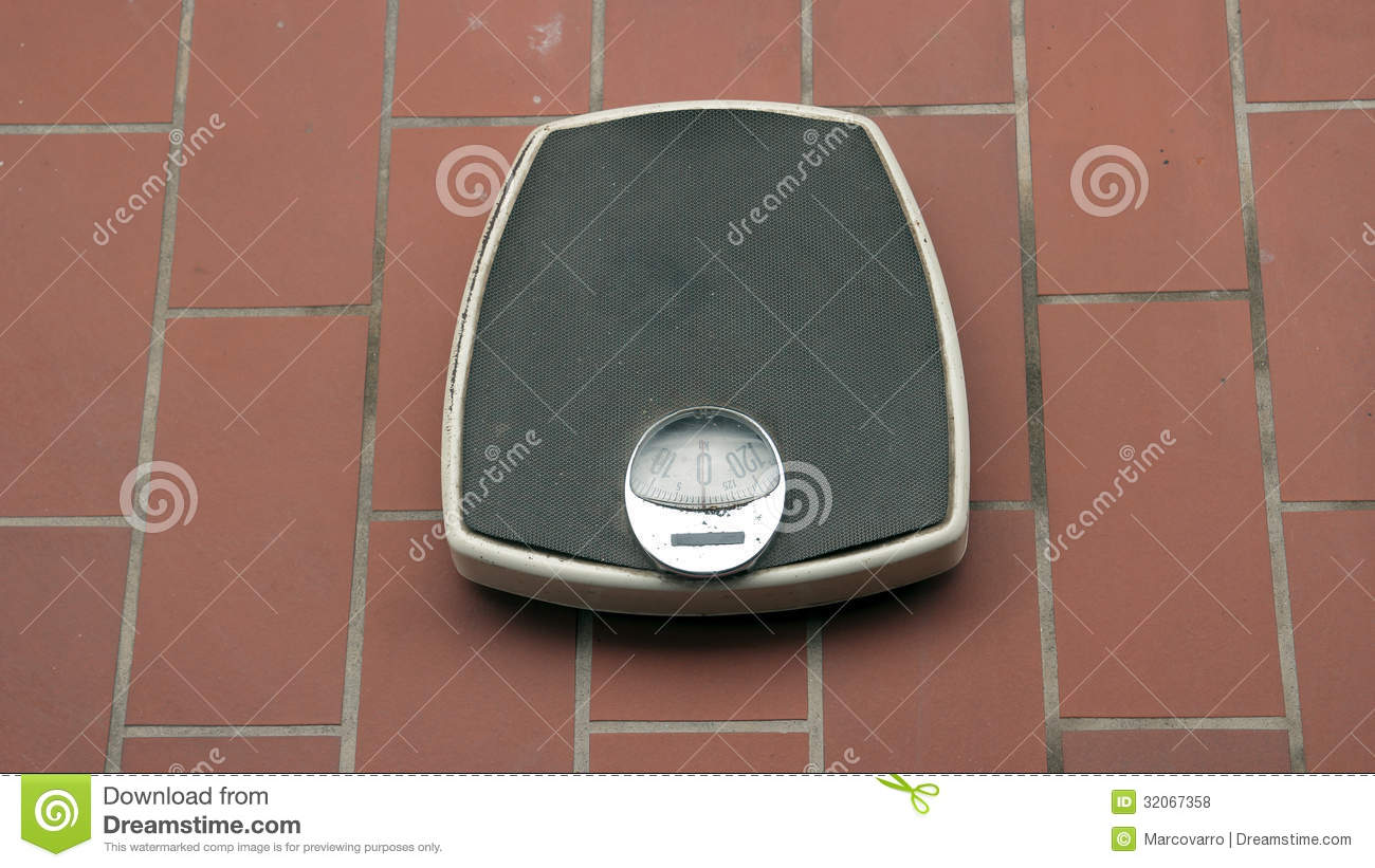 Vintage Bathroom Scales Stock Photo Image Of Analogue