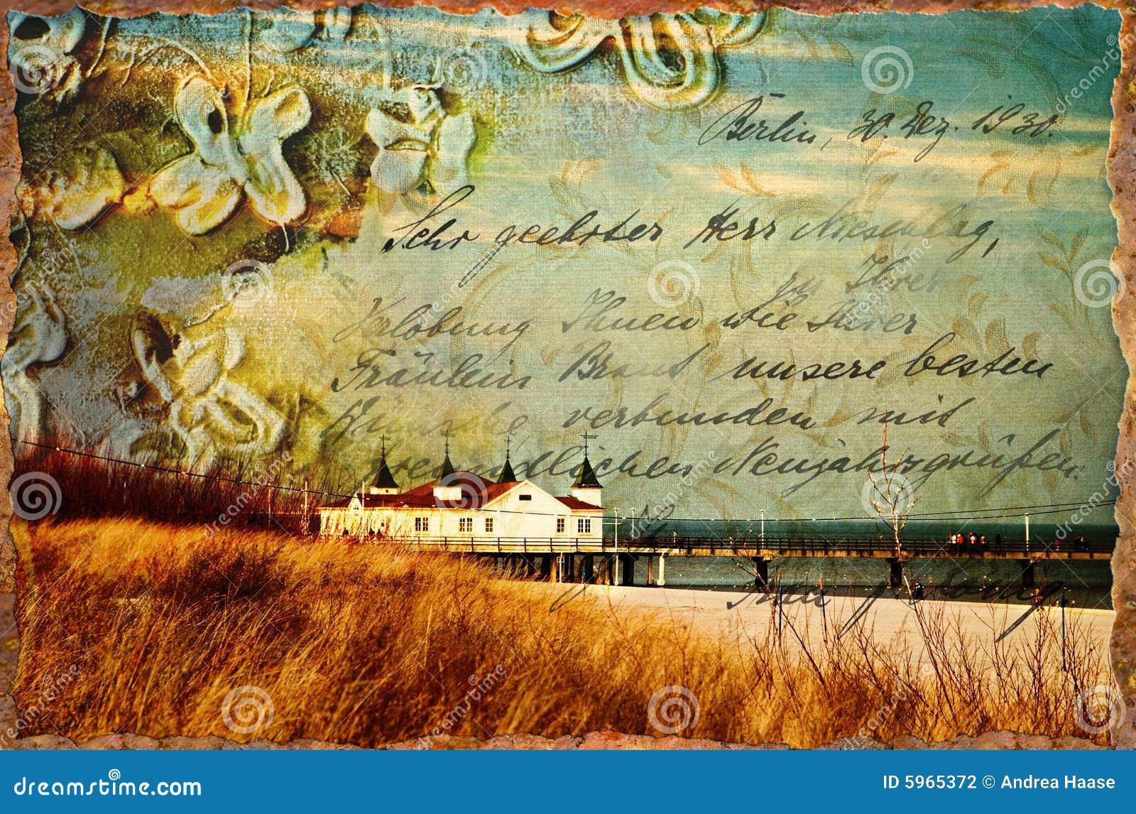 Vintage beach illustration stock illustration. Image of ...