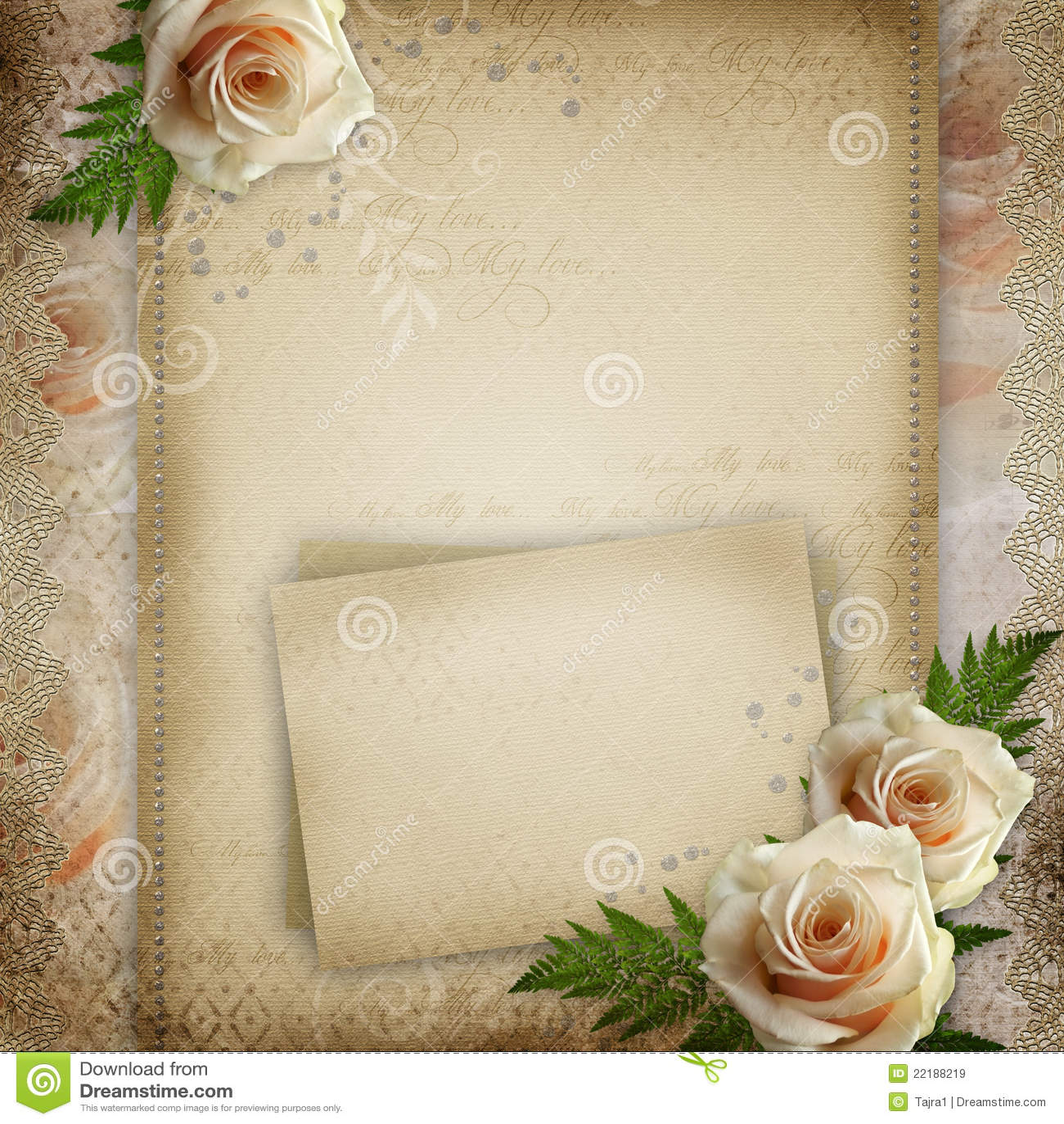 Vintage Beautiful Wedding Background Royalty Free Stock ...