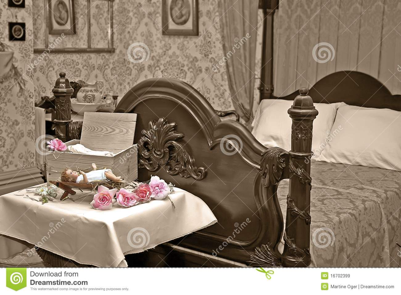 Victorian bedroom stock photo   image: 15812430