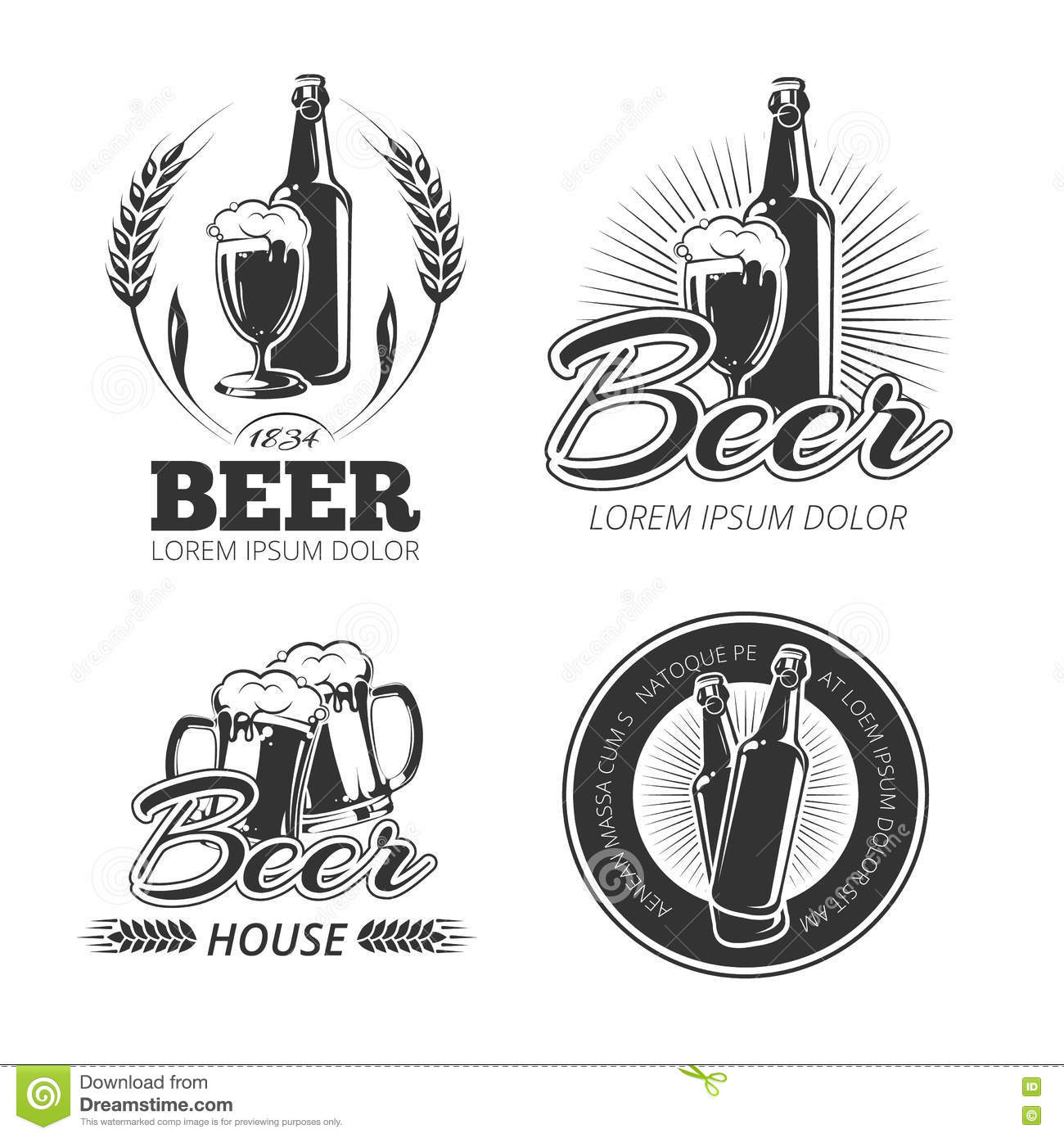 It is an image of Impertinent Black Label Beer Logo