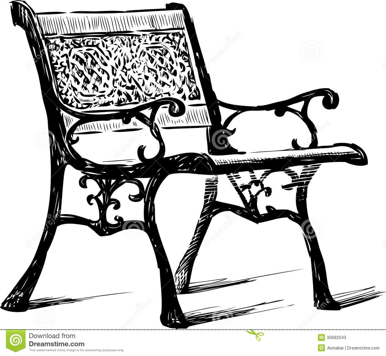 Vintage Bench Stock Photos - Image: 30682043