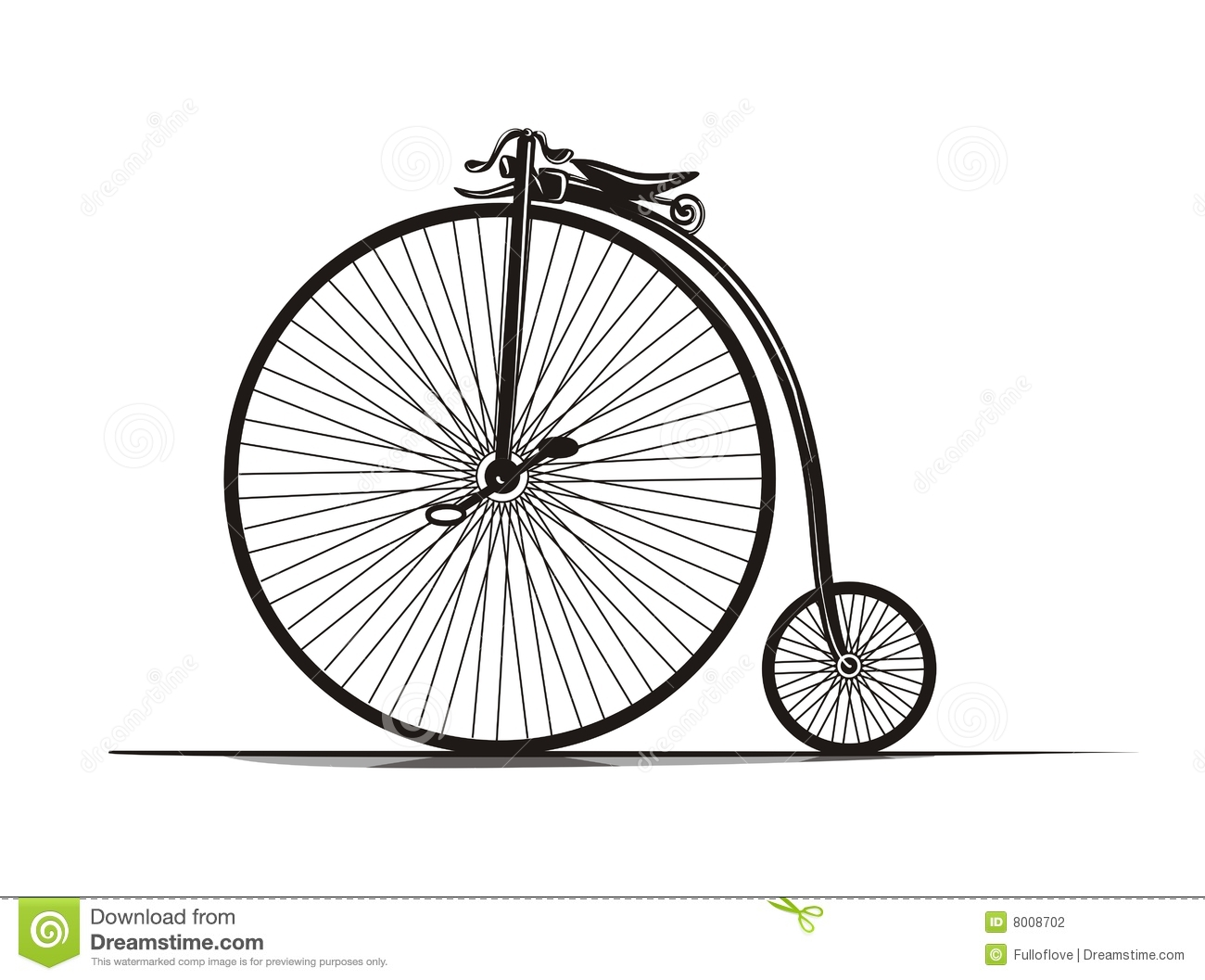 Vintage Bicycle stock vector. Illustration of cycling ...