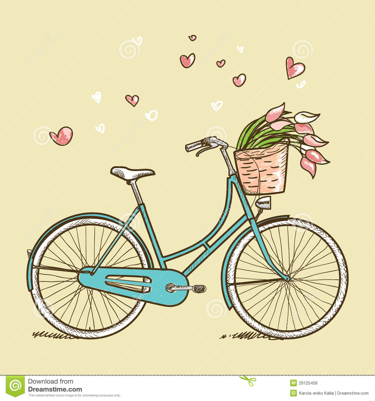 Vintage Bicycle Drawing Vector 2015 Images