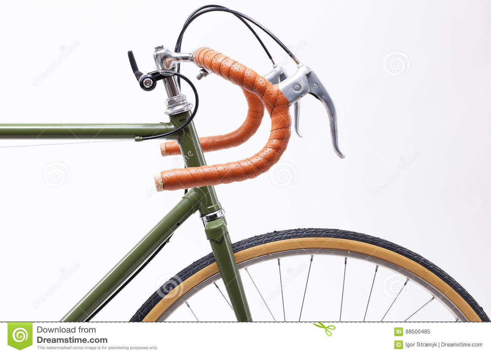 d9a34b189b5 Vintage bicycle handlebar stock image. Image of handmade - 68500485