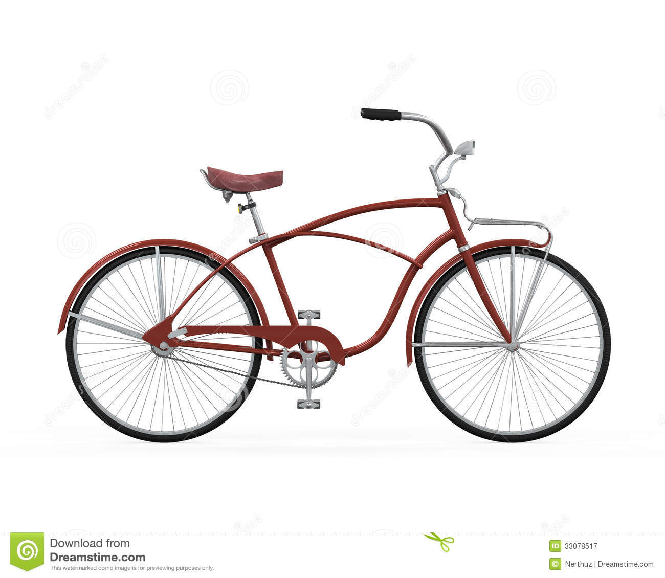 Vintage Bicycle Isolated Royalty Free Stock Photography