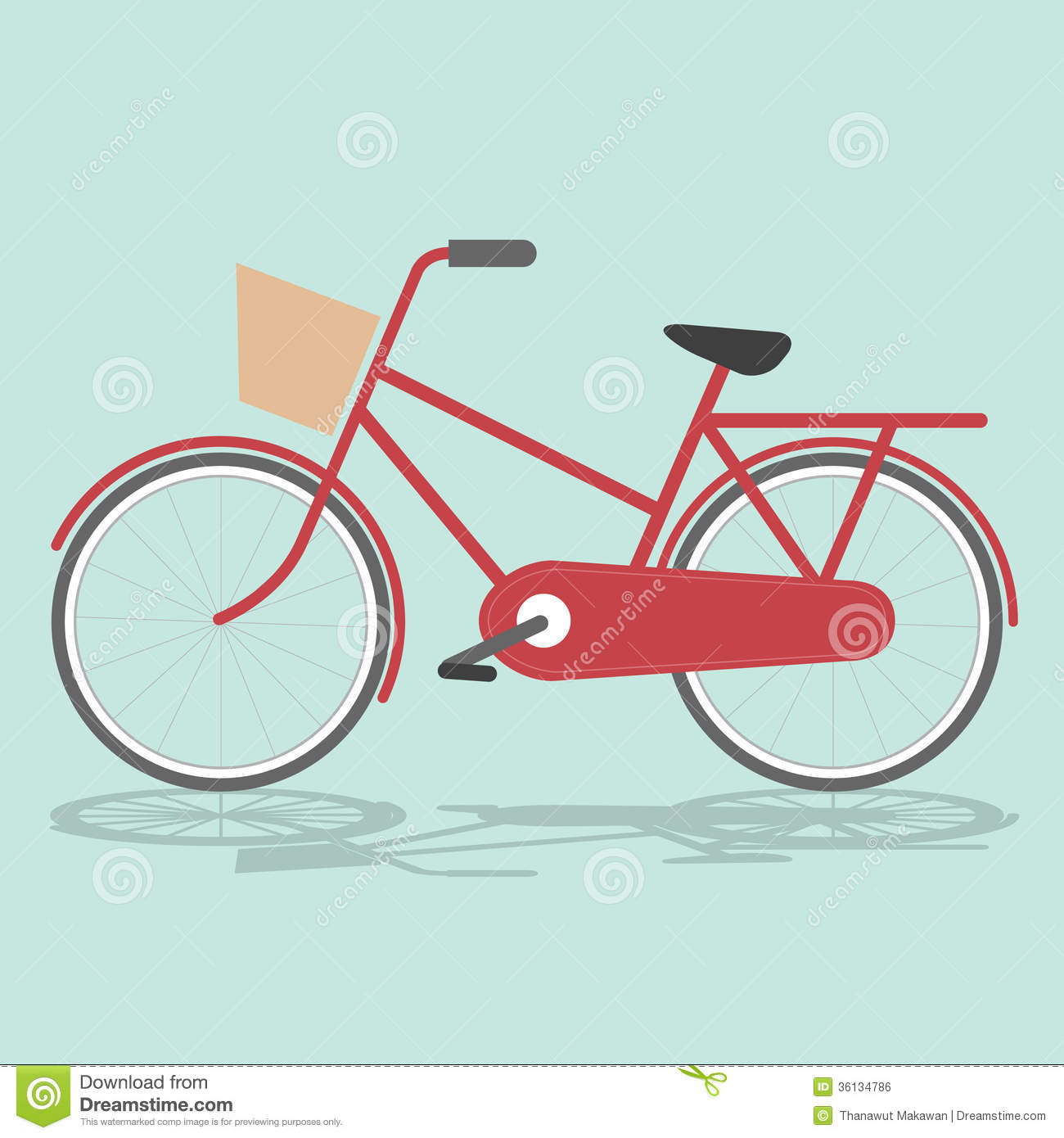 Bicycle illustration retro - photo#5