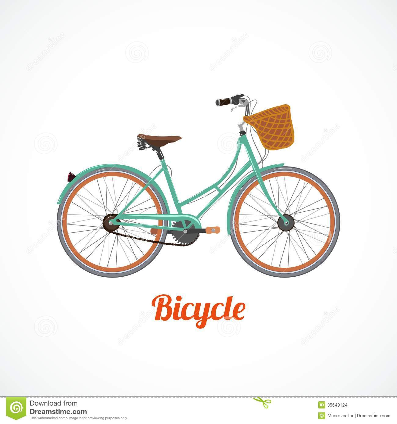 Bicycle illustration retro - photo#4