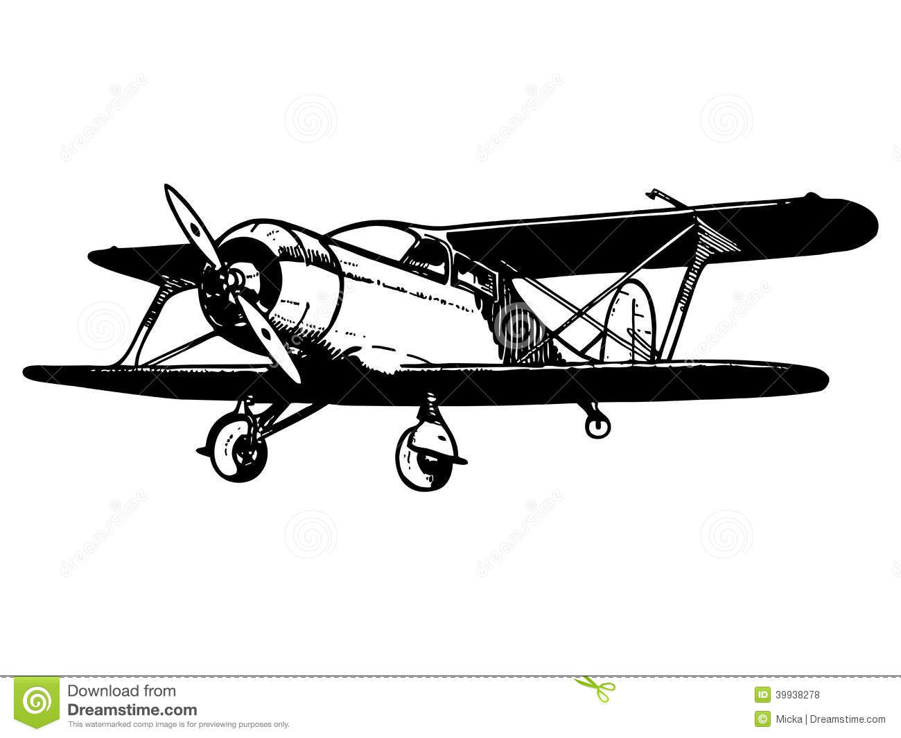 Vintage Biplane Aircraft Royalty Free Stock Photos