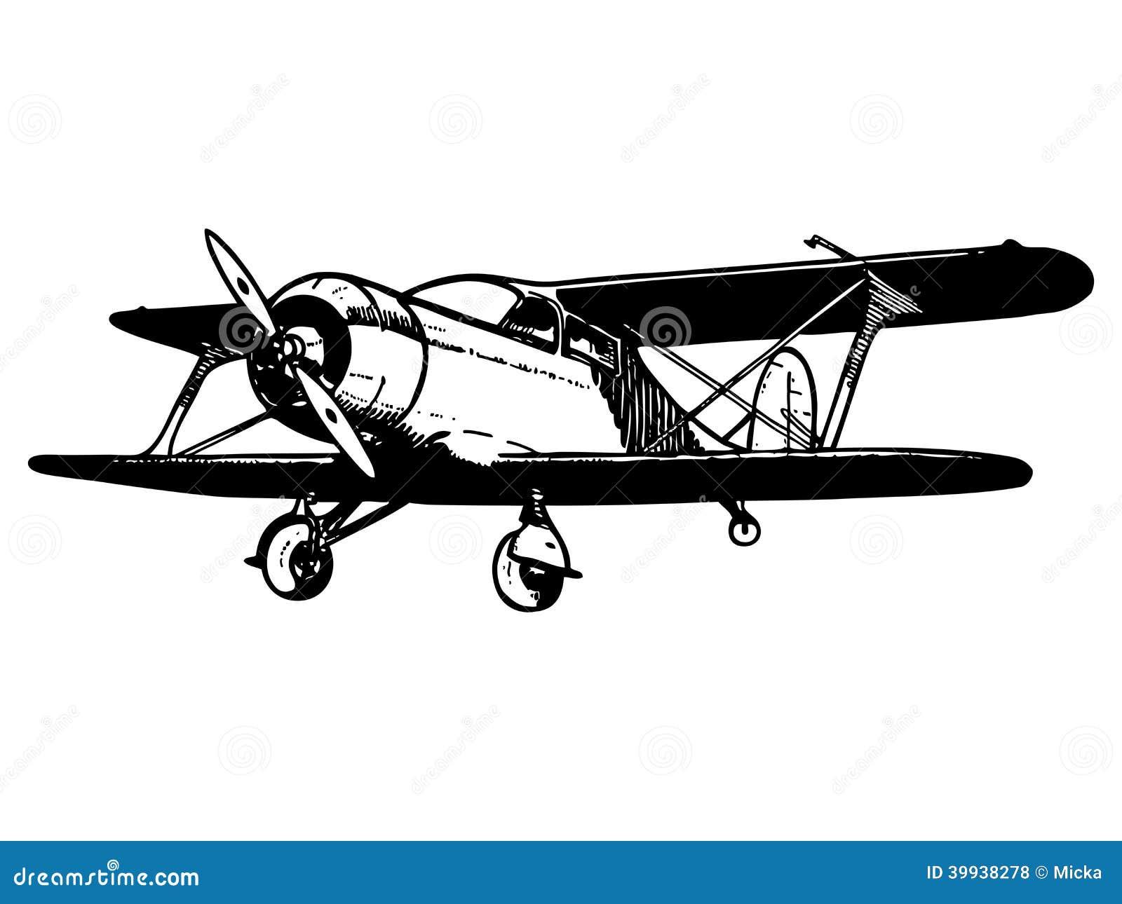 Vintage Biplane Aircraft Stock Vector - Image: 39938278