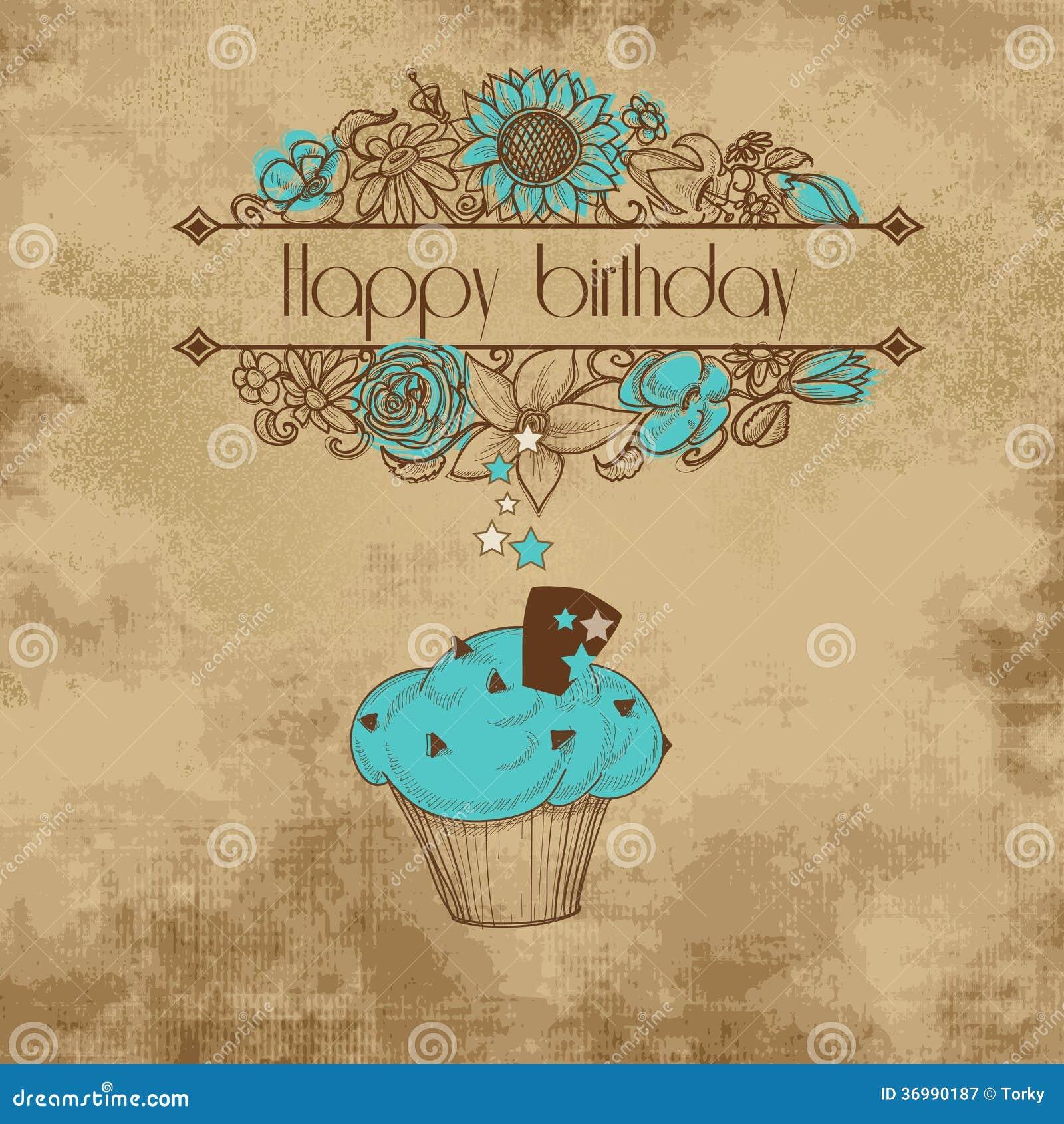 vintage birthday card royalty free stock photography  image, Birthday card