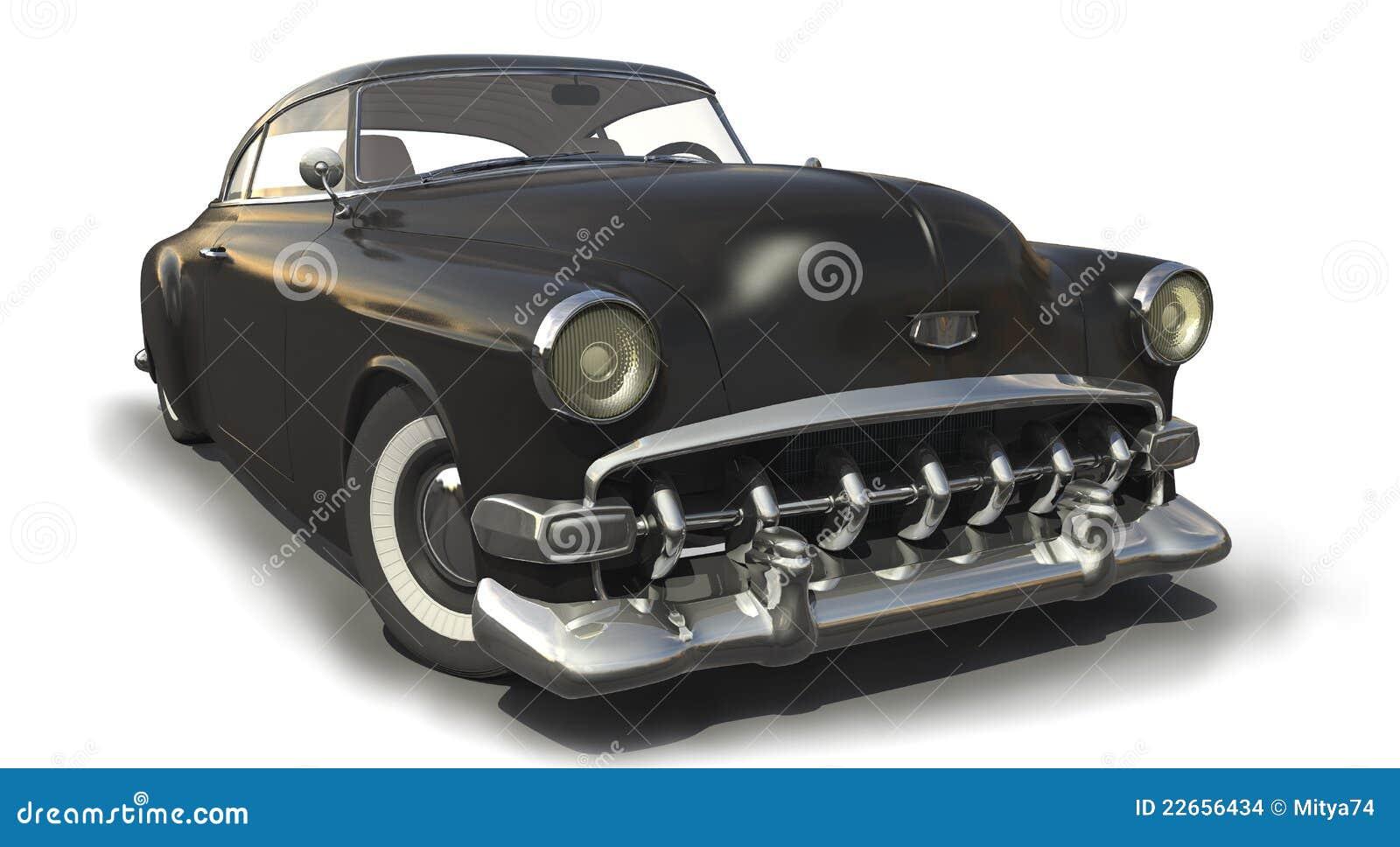 Vintage Black Car Model Stock Images Image
