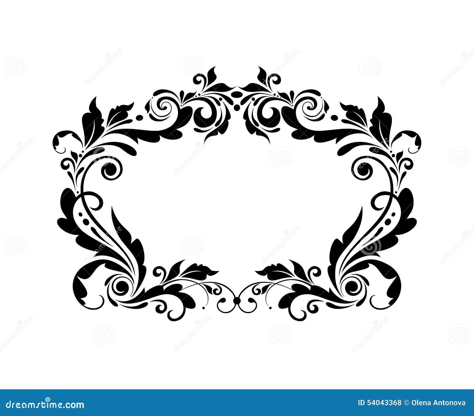 vintage black frame. Vintage Black Frame Stock Vector - Image: 54043368 P