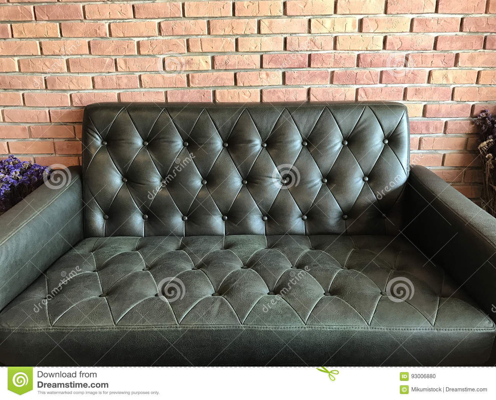 Vintage Black Leather Texture Sofa Background Stock Photo Image  ~ Vintage Black Leather Sofa