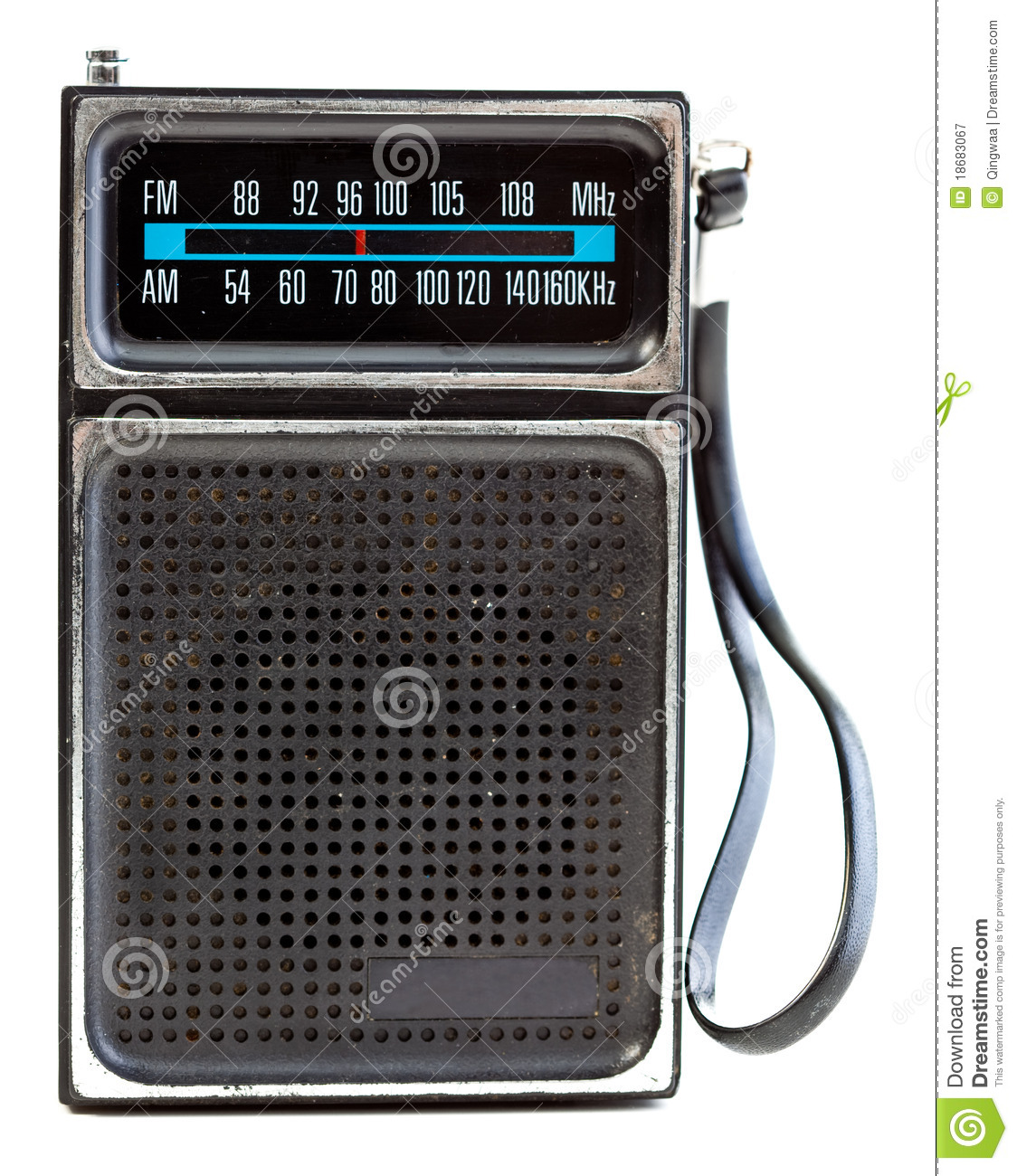 Royalty Free Stock Photography Vintage Black Portable Transistor Radio Isolated Image18683067 on vintage transistor radios