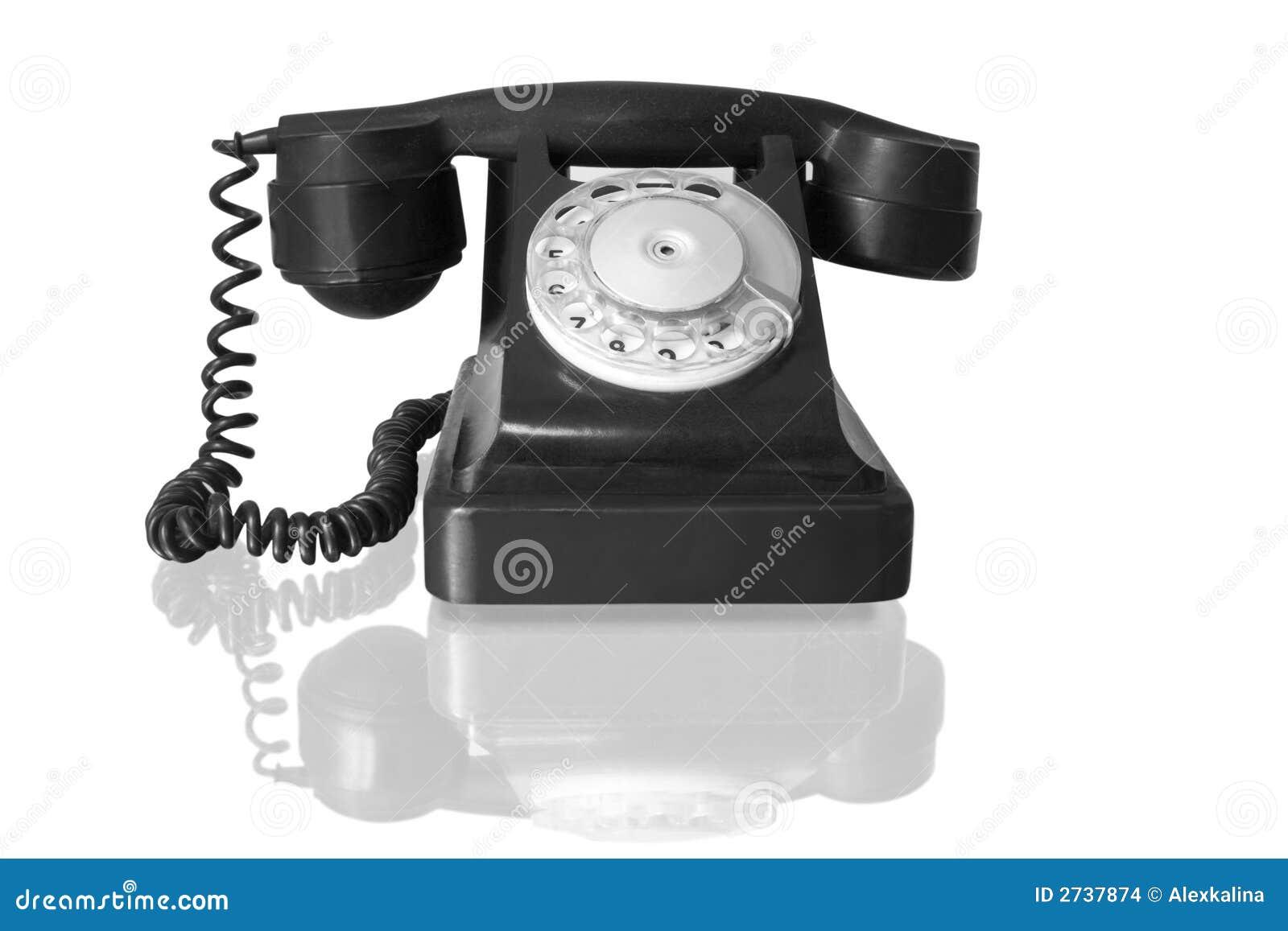 Vintage Black Telephone 60