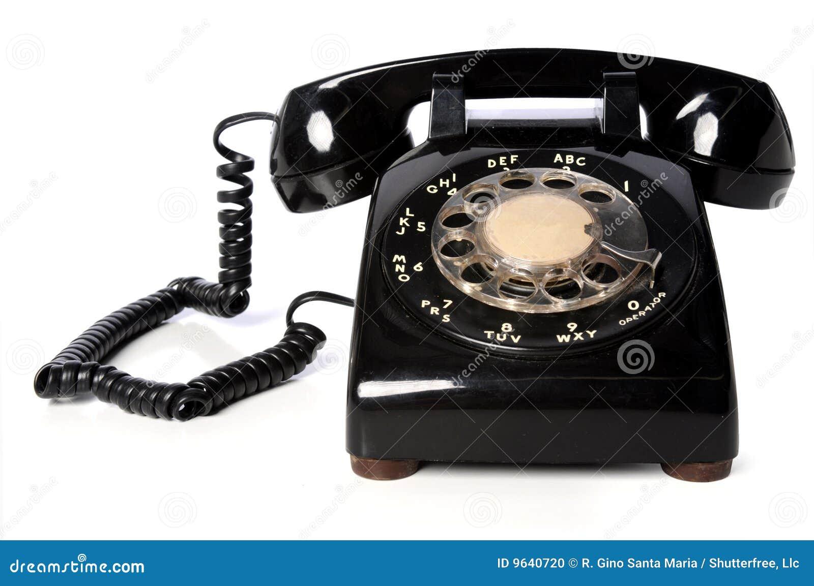 Vintage Black Telephone 112