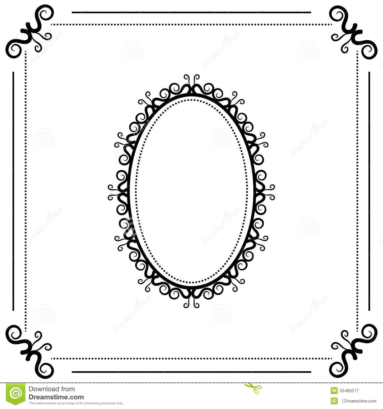 Baroque Oval Frame Stock Illustrations 1 328 Baroque Oval Frame