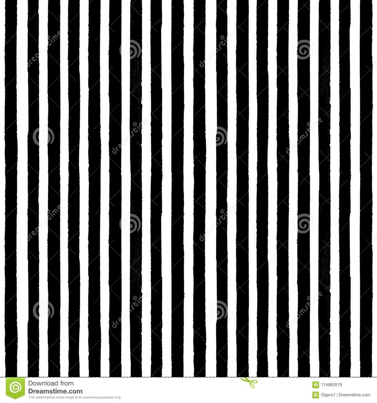 40d87f4150d Vintage black and white stripe background. Old aged paper with ink hand  drawn striped endless pattern. Vertical trendy seamless texture.
