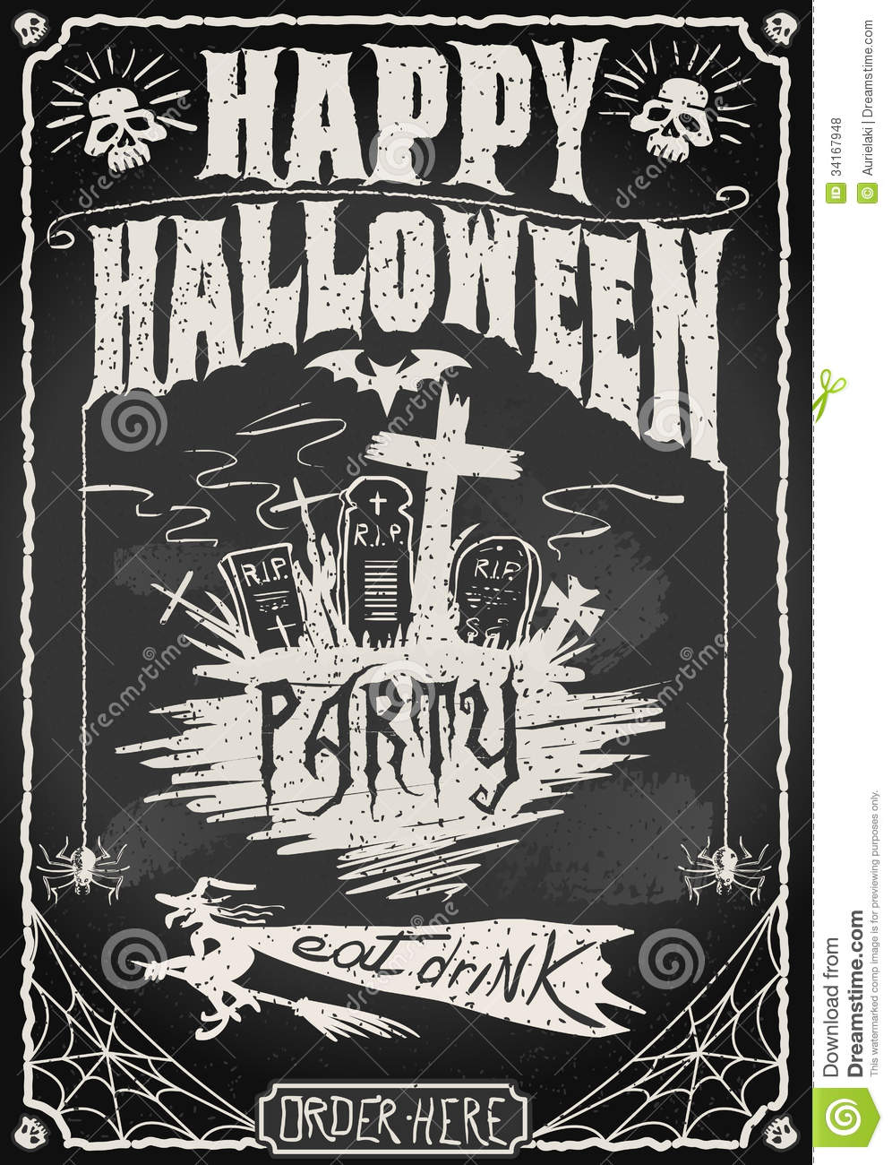 Halloween Card Invitation for great invitations example