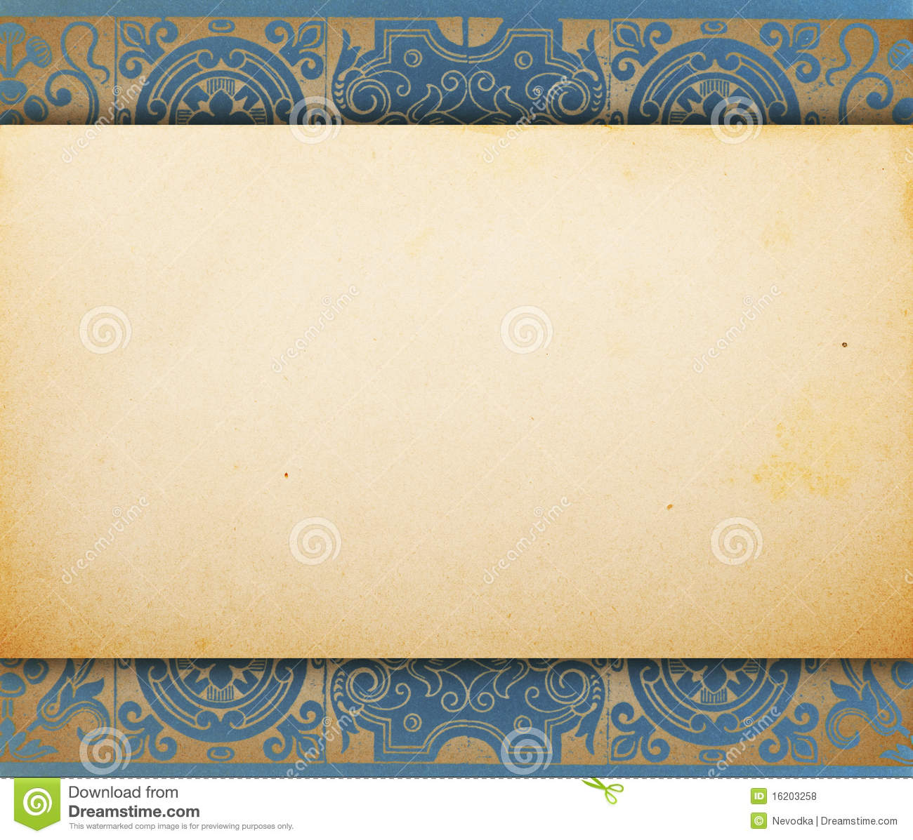 vintage blank paper template stock photo image of decorative