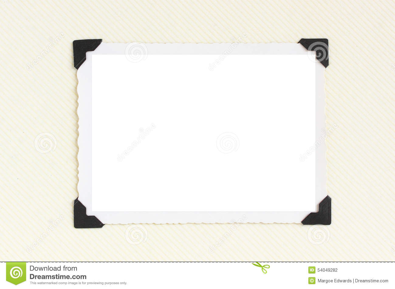 Vintage blank photo frame stock photo image of blank for Picture frame corners