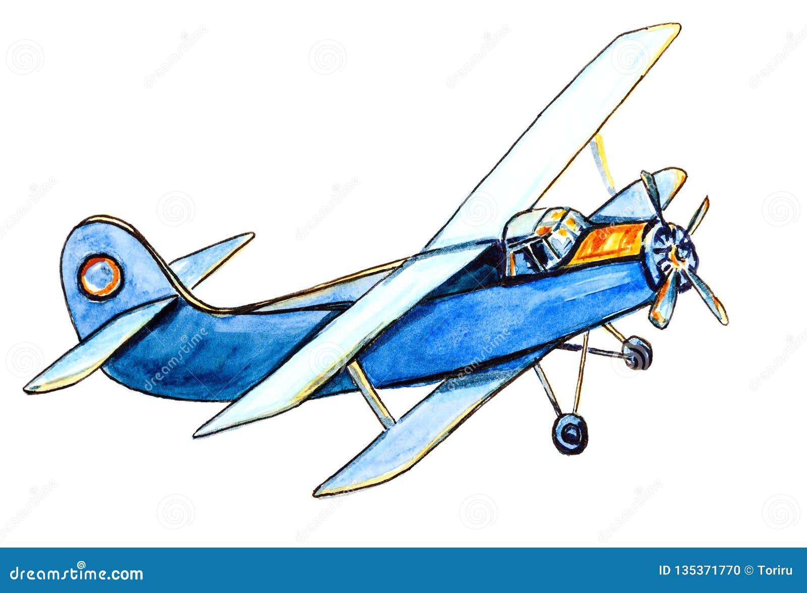 Vintage blue airplane