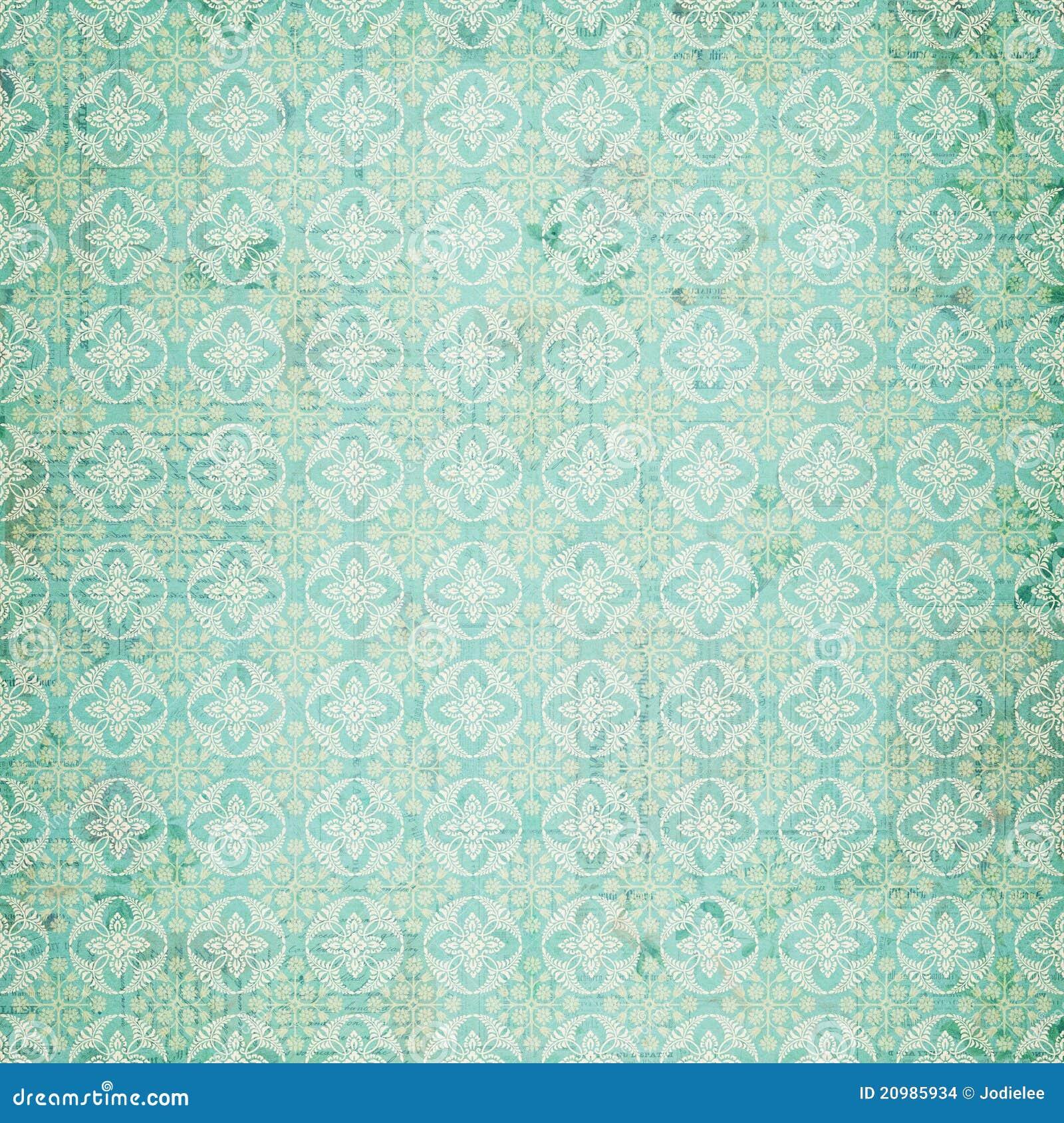 Vintage Blue Damask Repeat Pattern Stock Illustration ...