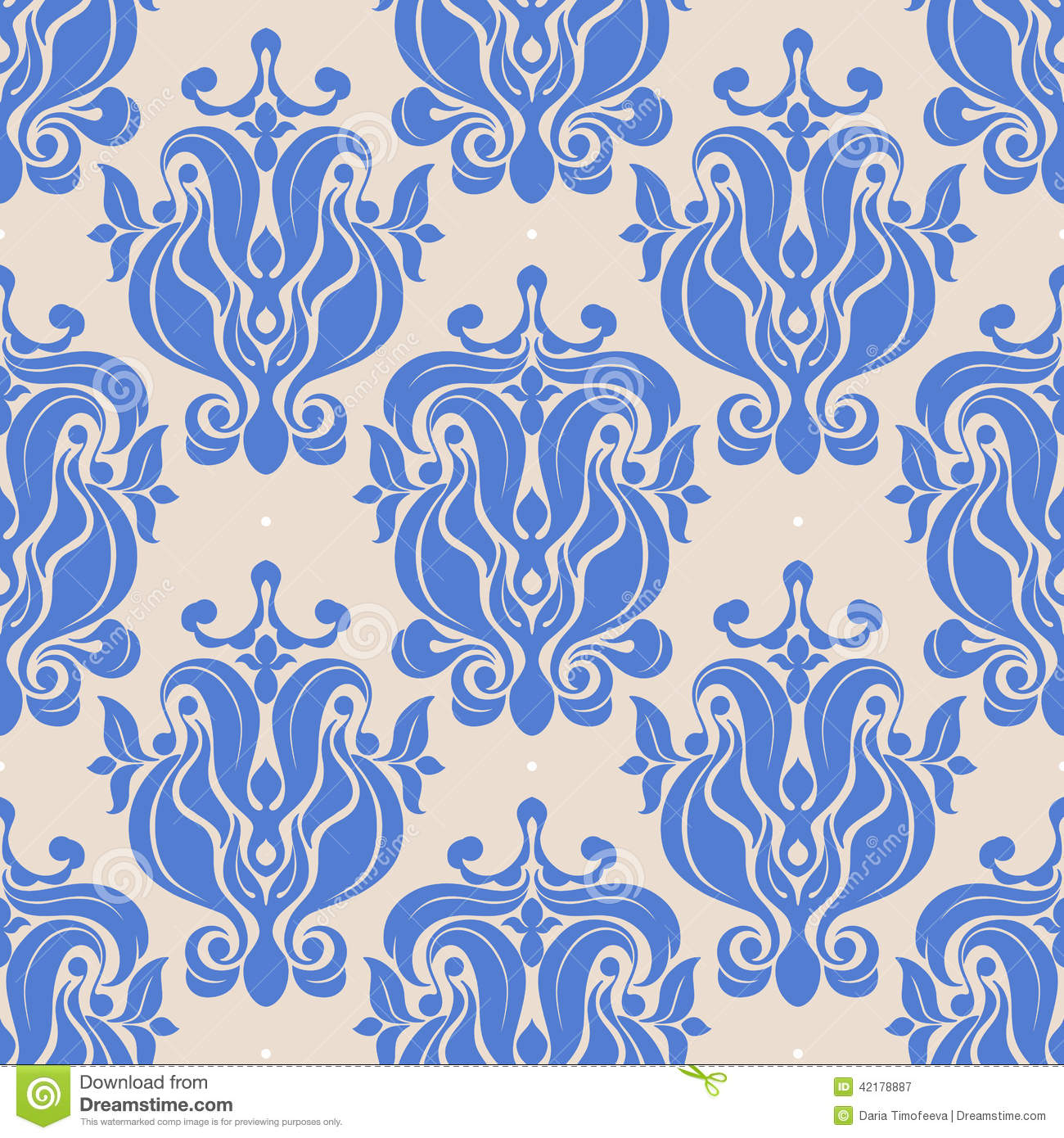 Vintage blue natural abstract pattern