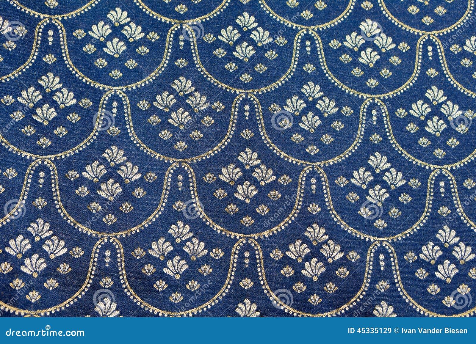 Bedspread designs texture - Vintage Blue Silver Bed Spread
