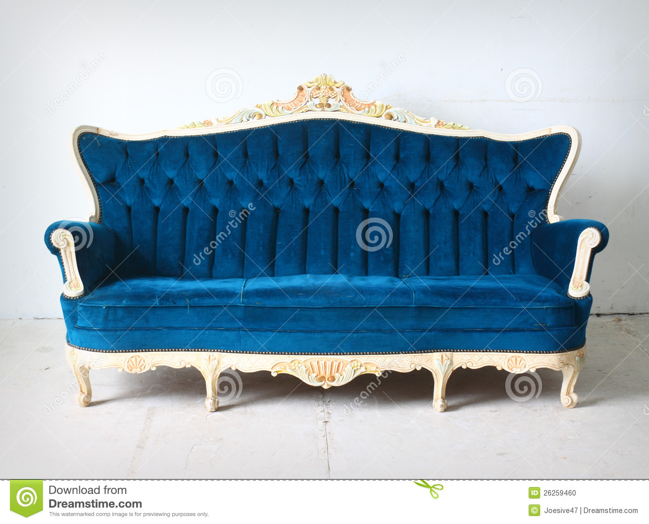 Vintage Blue Sofa In The Room Stock Photo Image 26259460