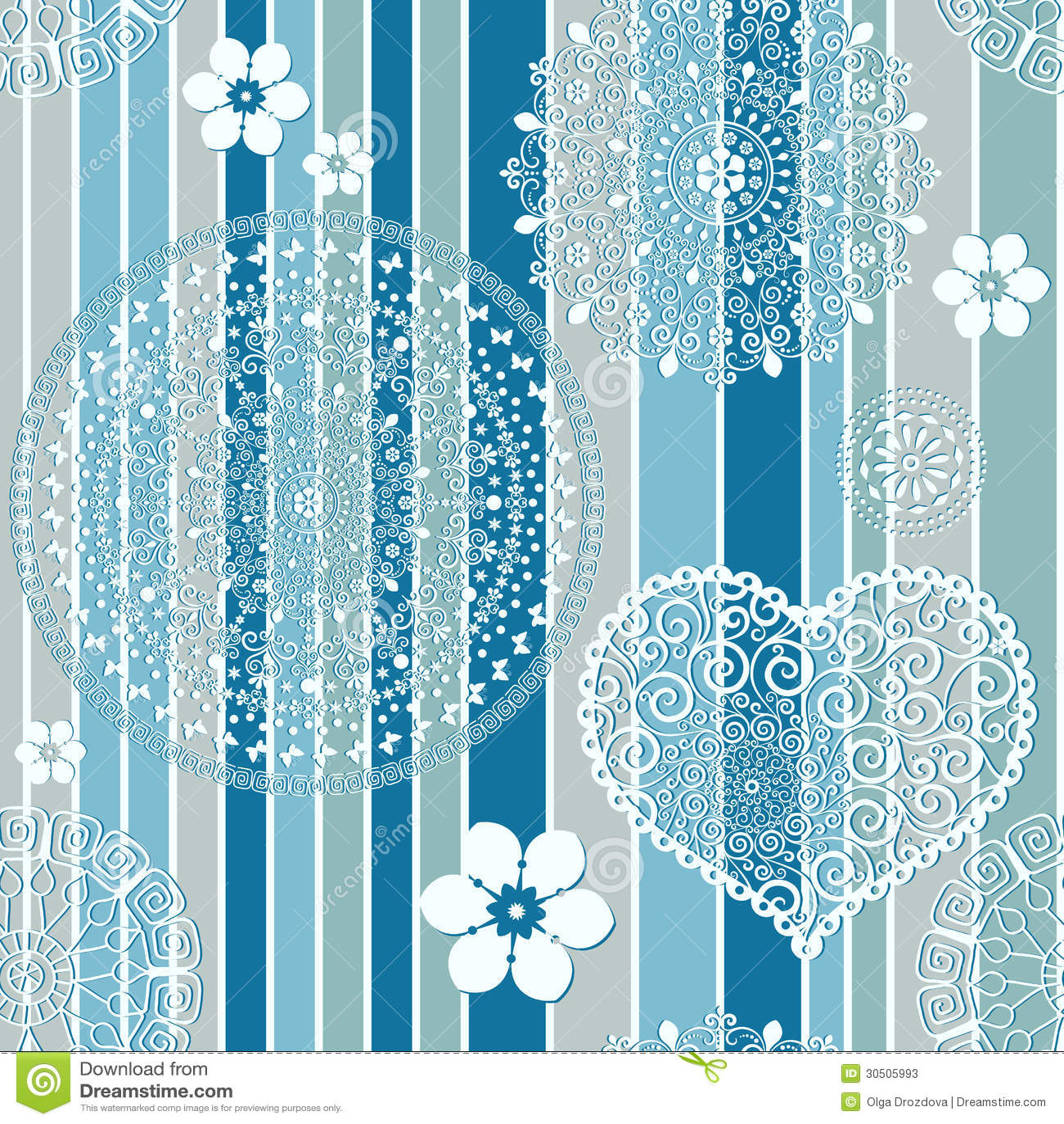 Vintage Blue Striped Seamless Pattern Stock Photos - Image ...