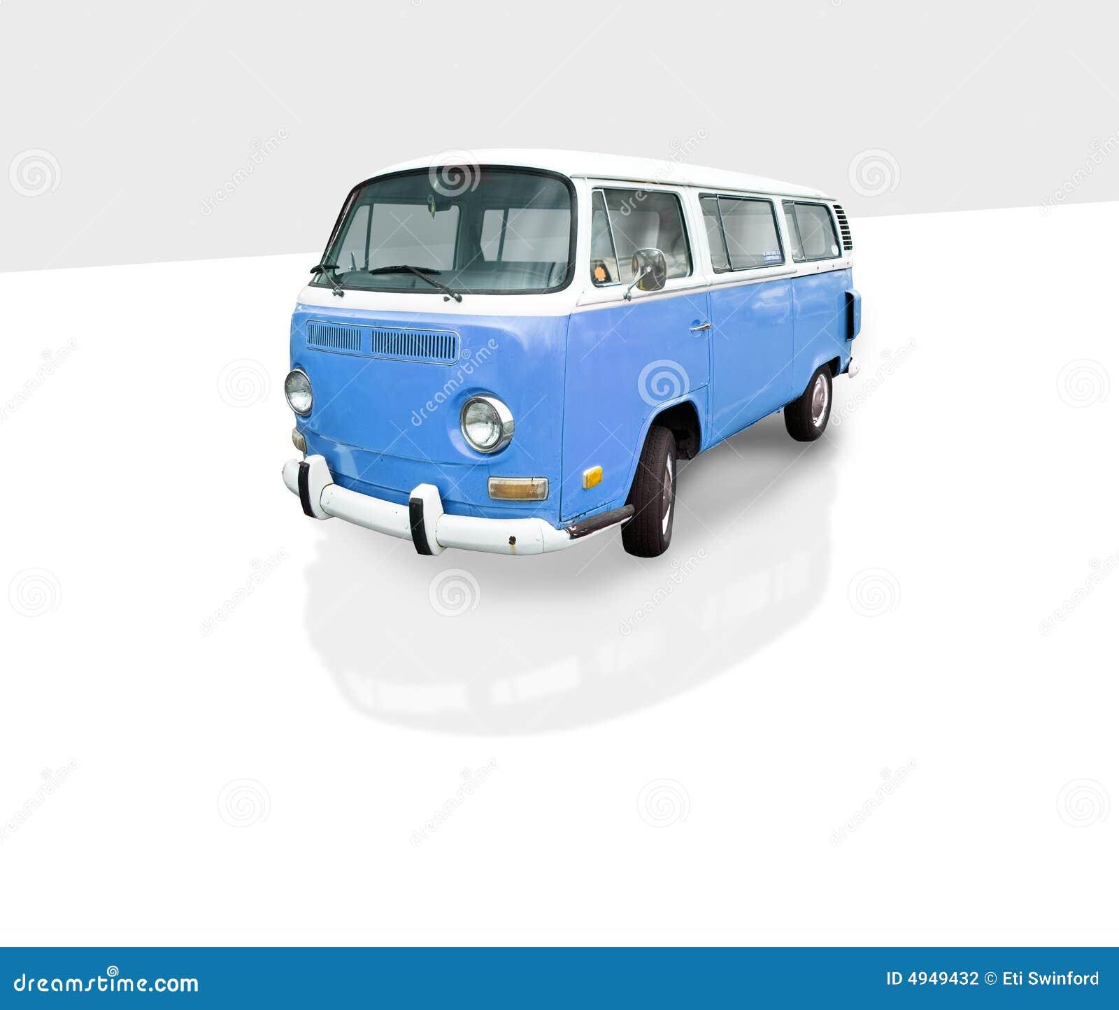Vintage Blue Van Stock Photography Image 4949432