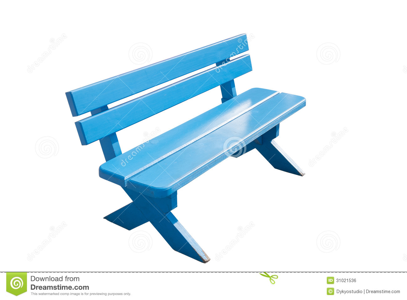 Vintage Blue Wooden Bench Royalty Free Stock Image - Image ...