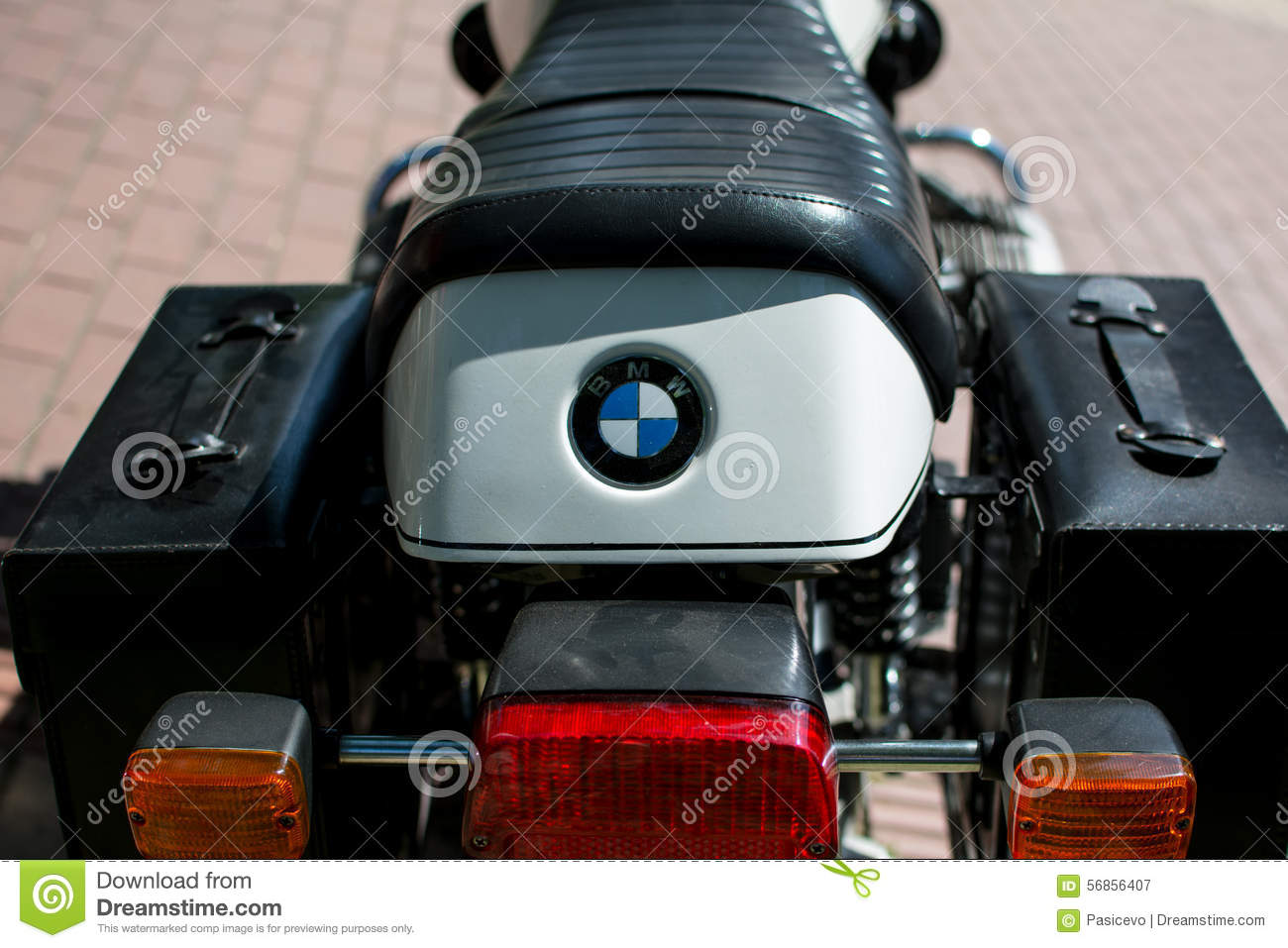 Vintage Bmw Motorcycle On Annual Oldtimer Car Show