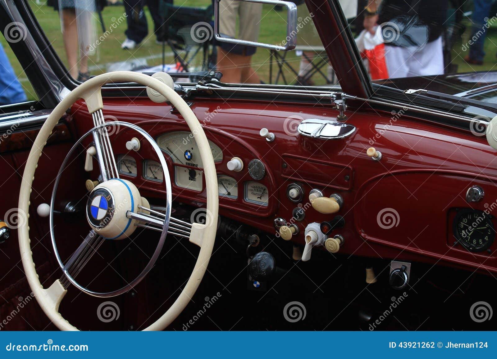 Vintage Bmw Sports Car Interior Editorial Photography Image 43921262
