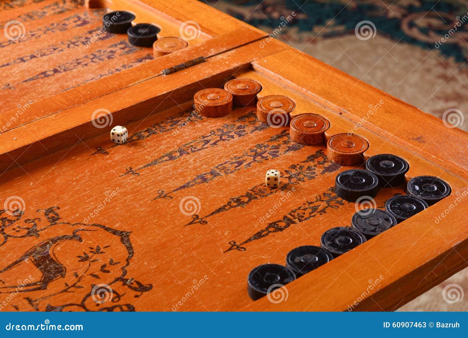 Vintage Board Game Backgammon Stock Photo Image 60907463